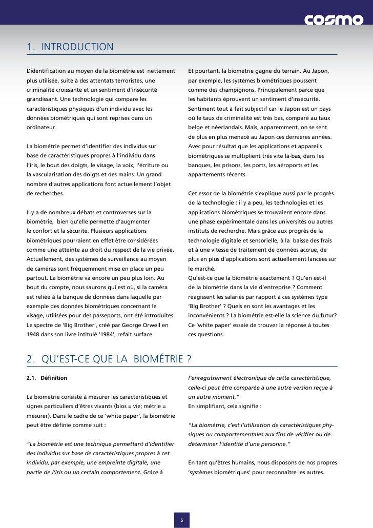 1. INTRODUCTION  L'identificationaumoyendelabiométrieestnettement            Etpourtant,labiométriegagnedut...