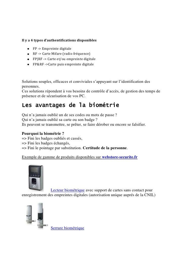 Biometrique