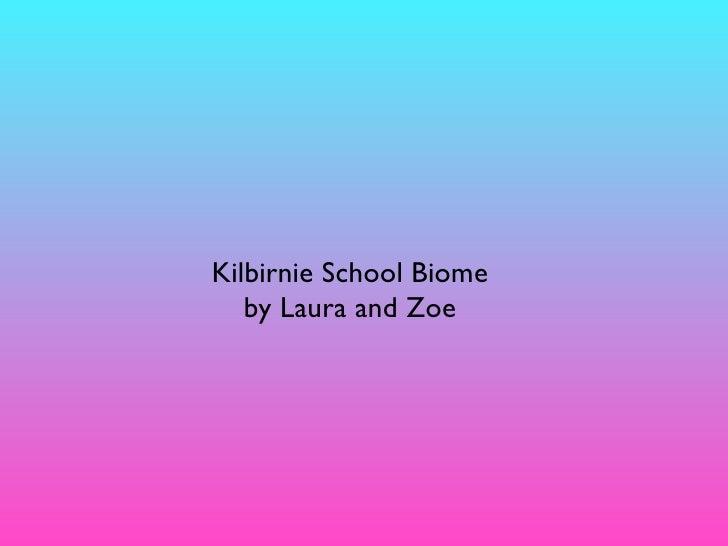 Kilbirnie School Biome    by Laura and Zoe
