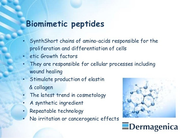 Biomimetic Molecules and their application to Aesthetic