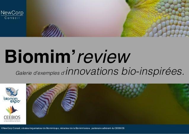 Biomim'review Galerie d'exemples d'innovations bio-inspirées. ©NewCorp Conseil, créateur/organisateur de Biomim'expo, réda...