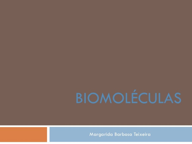 Margarida Barbosa Teixeira BIOMOLÉCULAS