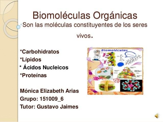 Biomoléculas Orgánicas Con Audio