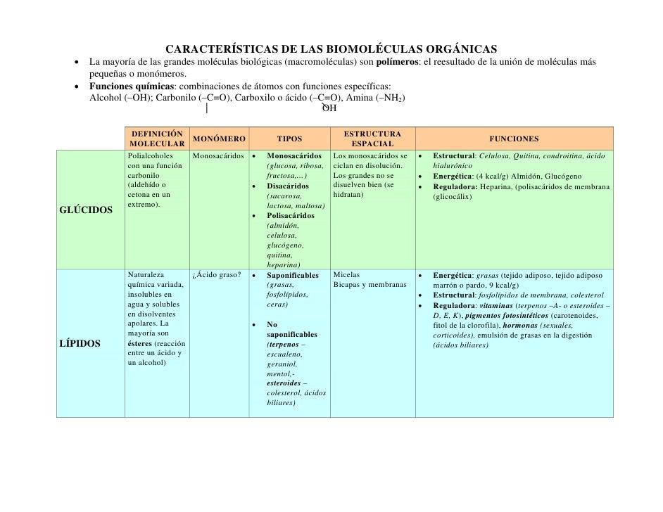 CARACTERÍSTICAS DE LAS BIOMOLÉCULAS ORGÁNICAS   •   La mayoría de las grandes moléculas biológicas (macromoléculas) son po...