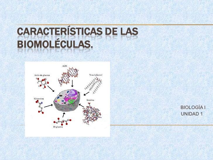 BIOLOGÍA I UNIDAD 1