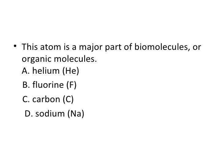 Biomolecules Macromolecules