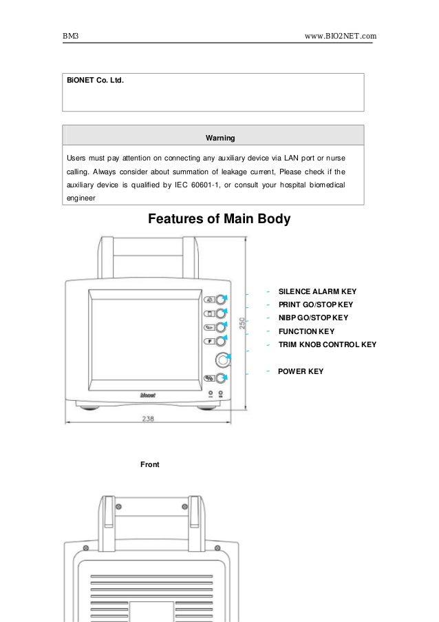 Bionet bm3 manual de servicio on