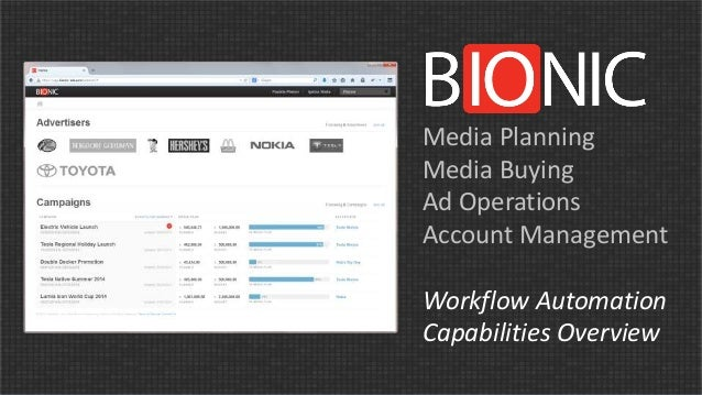 Media Planning  Media Buying  Ad Operations  Account Management  Workflow Automation  Capabilities Overview