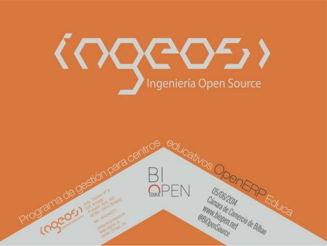 Ingeos - #biopeneduka OpenERP en el sector educativo