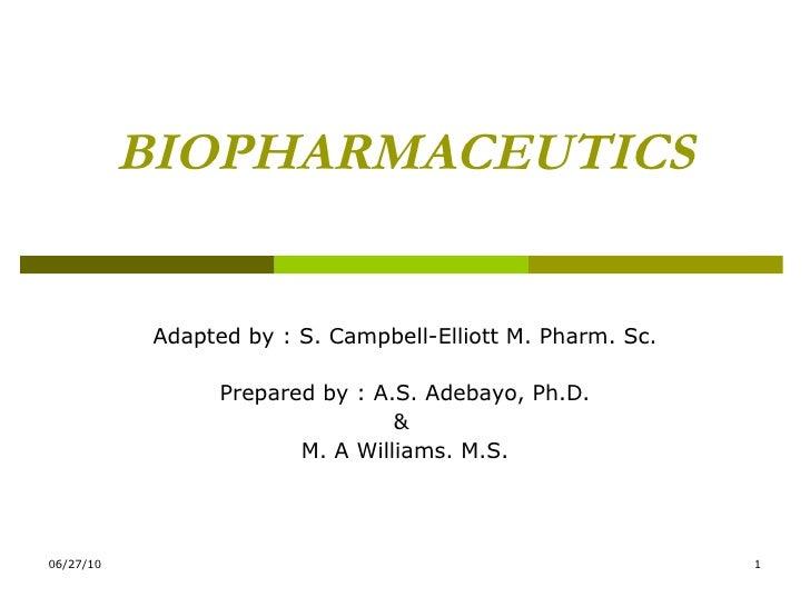 Biopharmaceutics lecture1(2)
