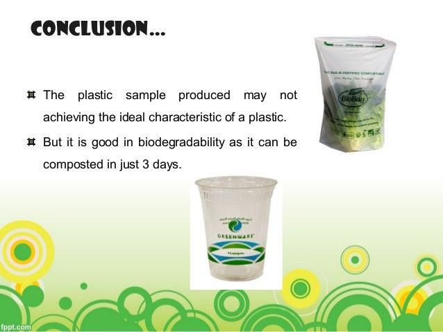 Bioplastic from potato starch 2014