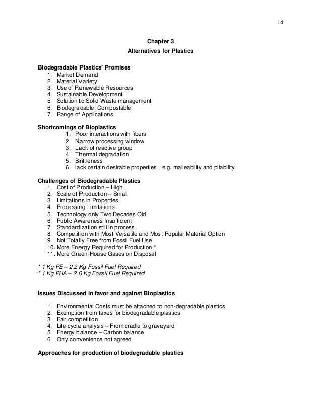 Bioplastics Information