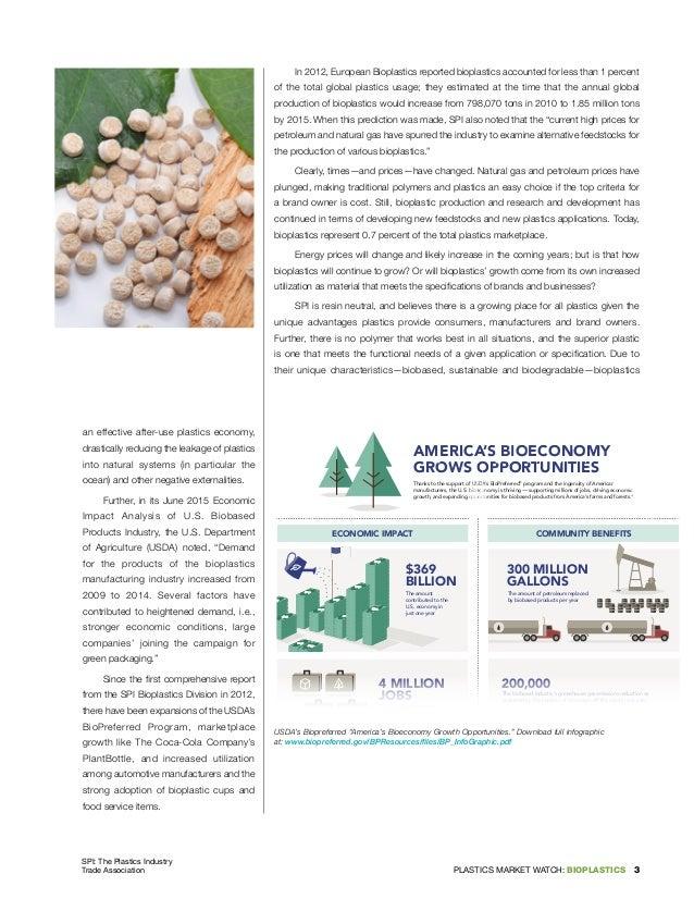Bioplastics 2016 SPI report