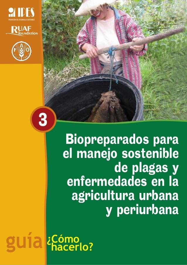 3          Biopreparados para          el manejo sostenible                    de plagas y           enfermedades en la   ...