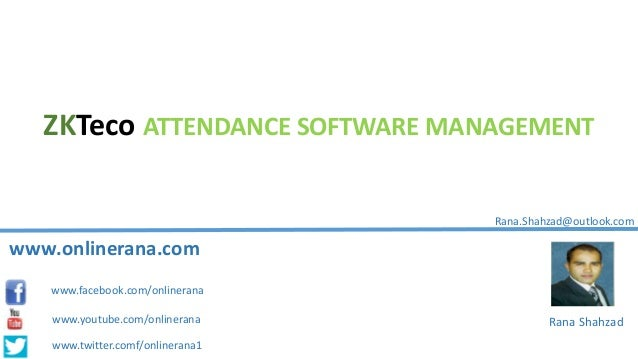ZKTeco Attendance Management software Training