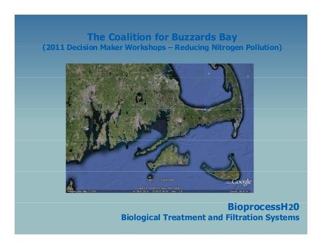 The Coalition for Buzzards Bay  (2011 Decision Maker Workshops – Reducing Nitrogen Pollution)  BioprocessH20 i  Biological...