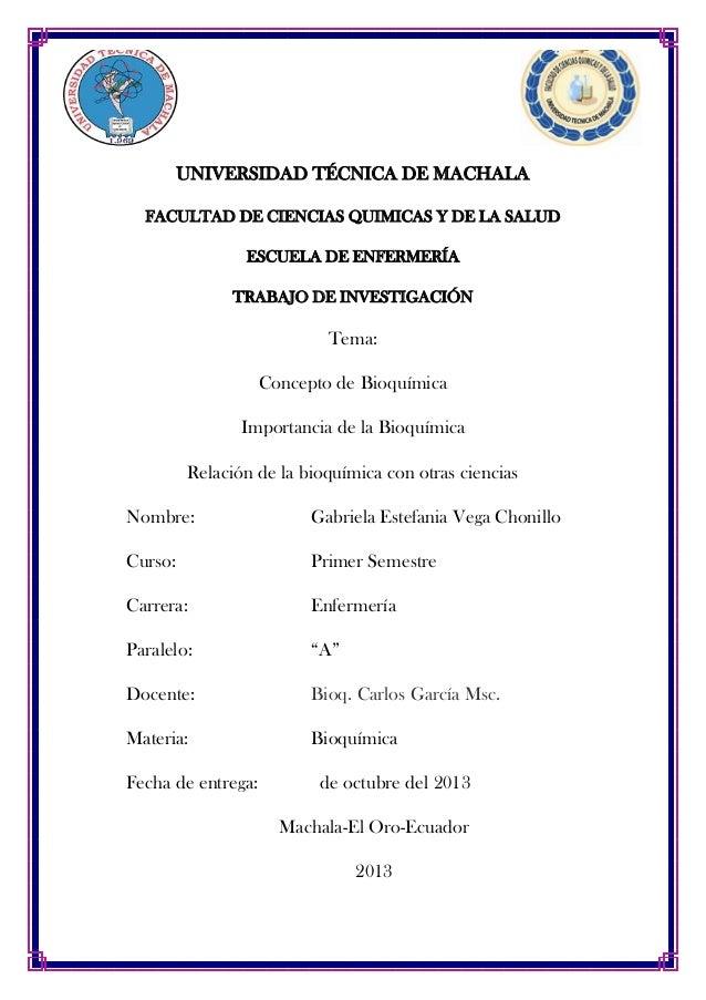 UNIVERSIDAD TÉCNICA DE MACHALA FACULTAD DE CIENCIAS QUIMICAS Y DE LA SALUD ESCUELA DE ENFERMERÍA TRABAJO DE INVESTIGACIÓN ...