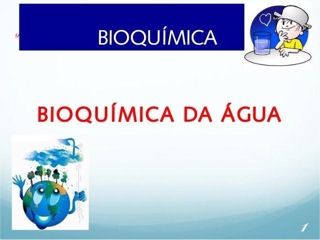 Profa. Denise Esteves MoritzB - UINOISUQL UÍMICA  AULA 03  BIOQUÍMICA DA ÁGUA  1