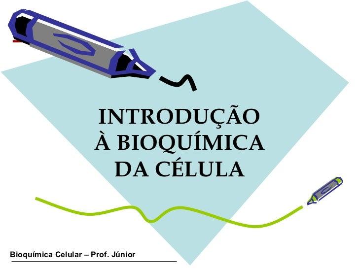 INTRODUÇÃO À BIOQUÍMICA DA CÉLULA