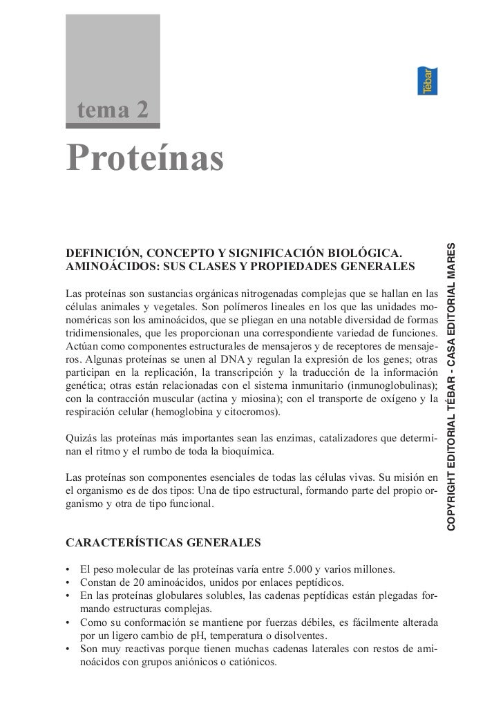 tema 2Proteínas                                                                                       COPYRIGHT EDITORIAL ...