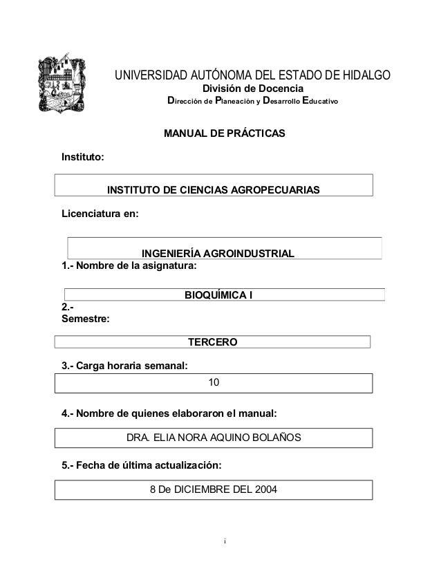 .  UNIVERSIDAD AUTÓNOMA DEL ESTADO DE HIDALGO División de Docencia Dirección de Planeación y Desarrollo Educativo MANUAL D...