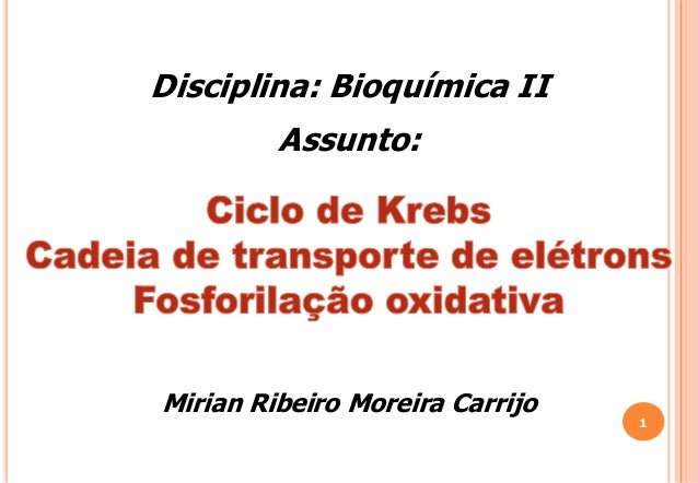 Disciplina: Bioquímica IIAssunto:Mirian Ribeiro Moreira Carrijo1