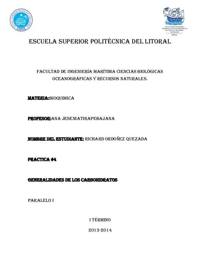 ESCUELA SUPERIOR POLITÉCNICA DEL LITORAL  FACULTAD DE INGENIERÍA MARÍTIMA CIENCIAS BIOLÓGICAS OCEANOGRÁFICAS Y RECURSOS NA...