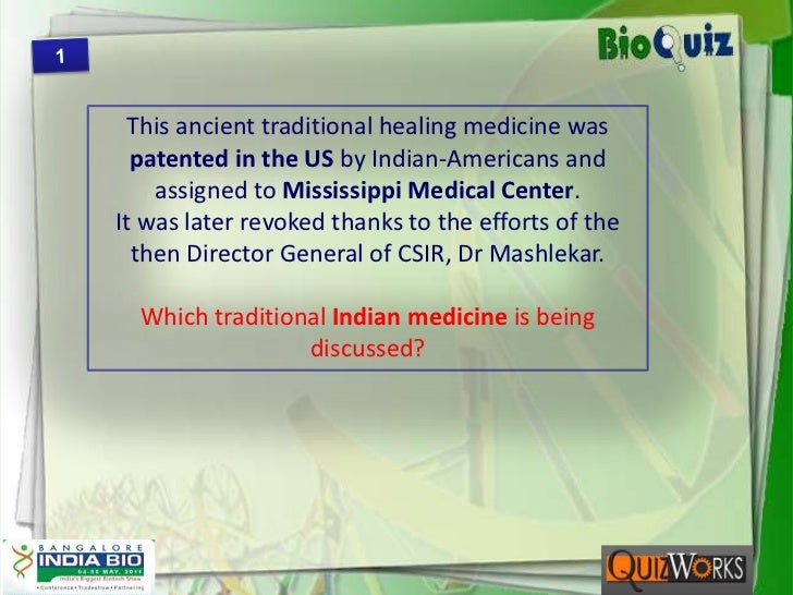 1<br />This ancient traditional healing medicine was patented in the US by Indian-Americans and assigned to Mississippi Me...