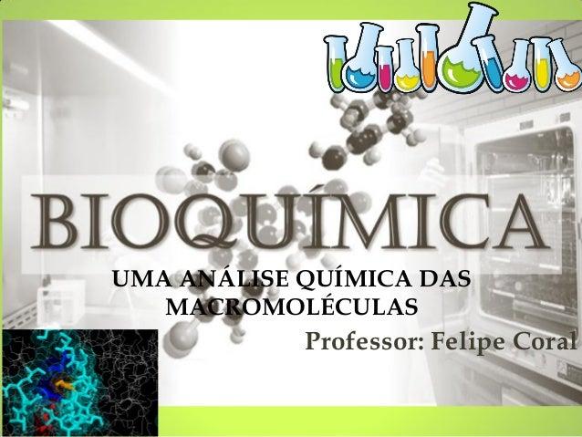 Professor: Felipe Coral  UMA ANÁLISE QUÍMICA DAS MACROMOLÉCULAS