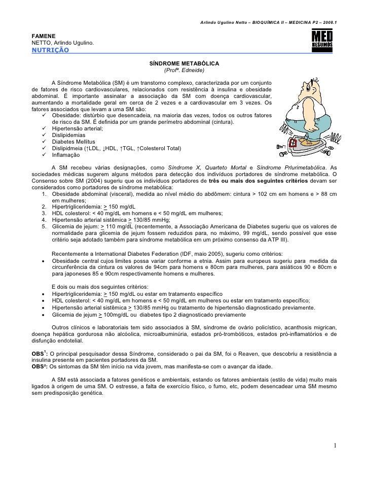 Arlindo Ugulino Netto – BIOQUÍMICA II – MEDICINA P2 – 2008.1FAMENENETTO, Arlindo Ugulino.NUTRIÇÃO                         ...