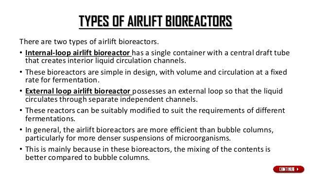 Schematic of airlift bioreactor with (a) external recirculation and (b) internal recirculation Visit www.seminarlinks.blog...