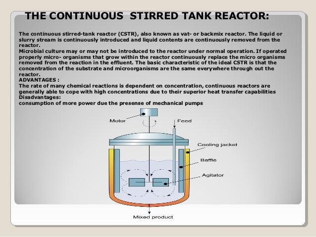 Bioreactors - Cstr reactor design