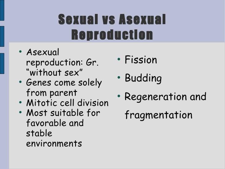 Non-sexual vs. asexual