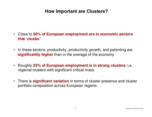 Clusters, Cluster Initiatives, and How they Matter for Firms and Regions Slide 3
