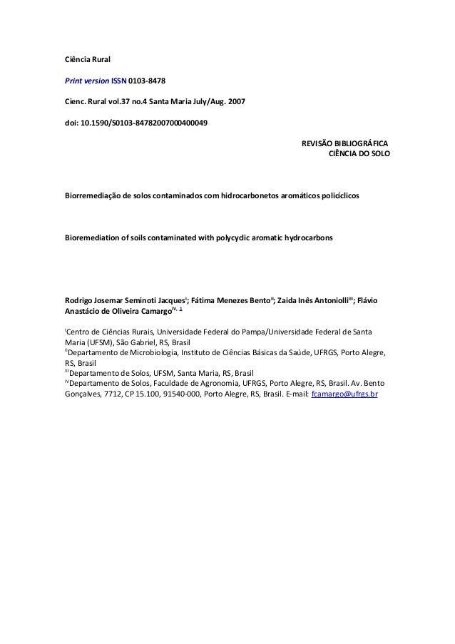 Ciência Rural  Print version ISSN 0103-8478  Cienc. Rural vol.37 no.4 Santa Maria July/Aug. 2007  doi: 10.1590/S0103-84782...