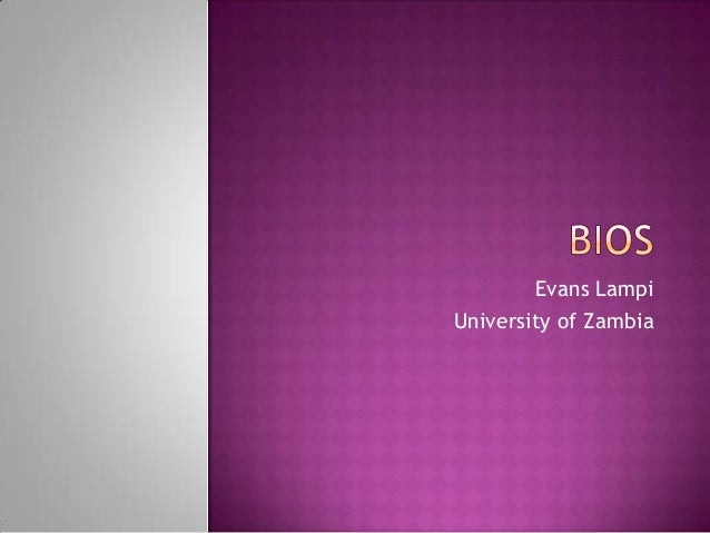 Evans Lampi University of Zambia