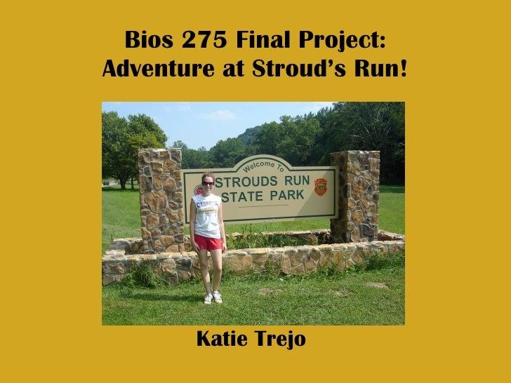 Bios 275 Final Project: Adventure at Stroud's Run! Katie Trejo