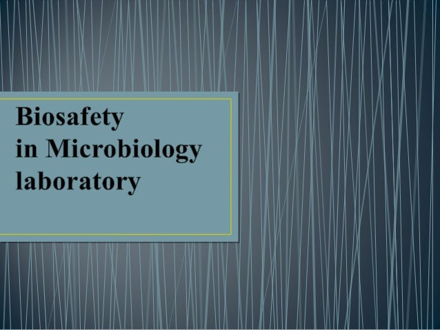• Biosafety is the prevention of large-scale loss of biological integrity, focusing both on ecology and human health. • It...