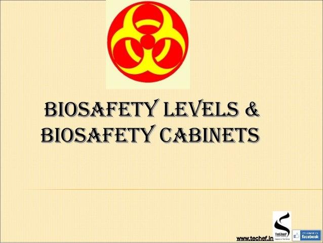 Biosafety LeVeLs &Biosafety LeVeLs & Biosafety CaBinetsBiosafety CaBinets