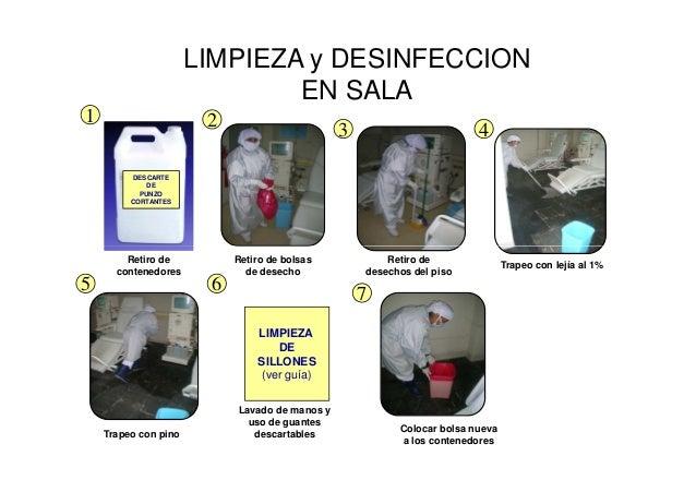 Bioseguridad en hemodialisis Limpieza y desinfeccion de equipos