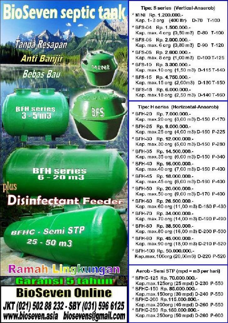 Bio seven daftar harga septictank free ongkir khusus p. jawa garansi 5 tahun