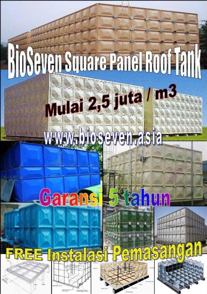 Bio seven square panel roof tank & ground tank   gutter, roof light  & lining