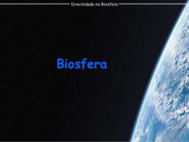 Diversidade na Biosfera  Biosfera