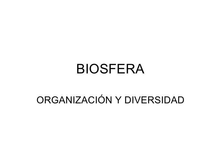 organizacion y biodiversidad
