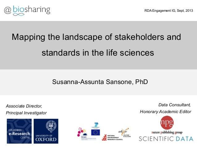 Data Consultant, Honorary Academic Editor Susanna-Assunta Sansone, PhD Associate Director, Principal Investigator RDA Enga...