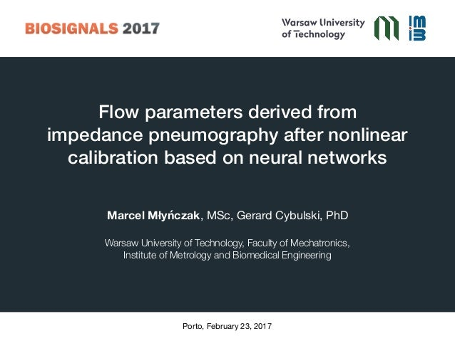 Flow parameters derived from 