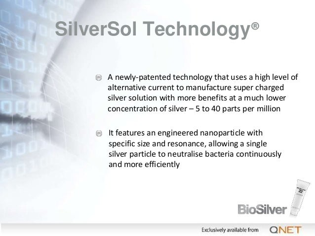 SilverSol Technology® A newly-patented technology that uses a high level of alternative current to manufacture super charg...