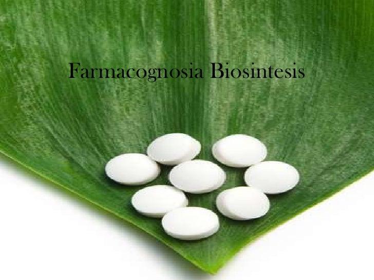 Farmacognosia Biosintesis<br />