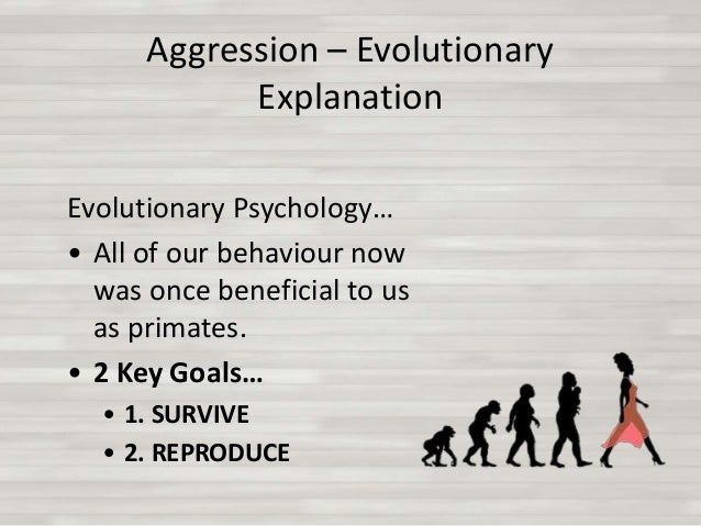 Discuss evolutionary explanations of group displays of aggression essay
