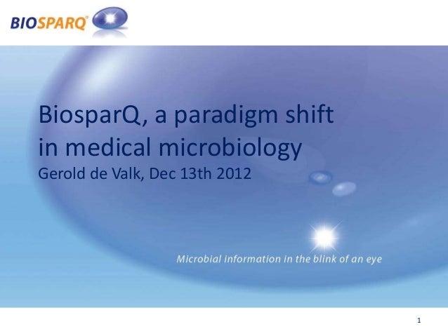 BiosparQ, a paradigm shiftin medical microbiologyGerold de Valk, Dec 13th 2012                                1